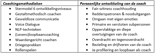 Coachingsmethodieken coach opleiding Blankestijn & Partners