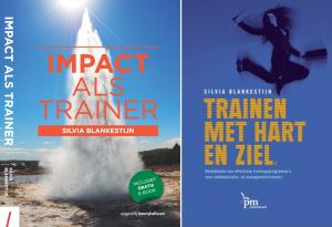 Boeken Trainen met Impact en Trainen met Hart en Ziel geschreven door Silvia Blankestijn
